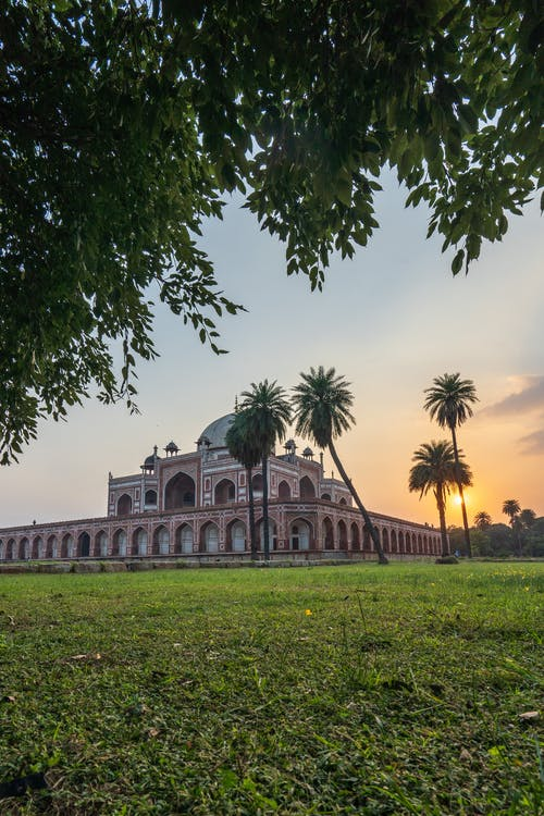 Free stock photo of architectural, golden hour, Historic Building, humayun's tomb