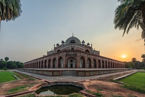Free stock photo of architectural design, golden hour, Historic Building, humayun's tomb