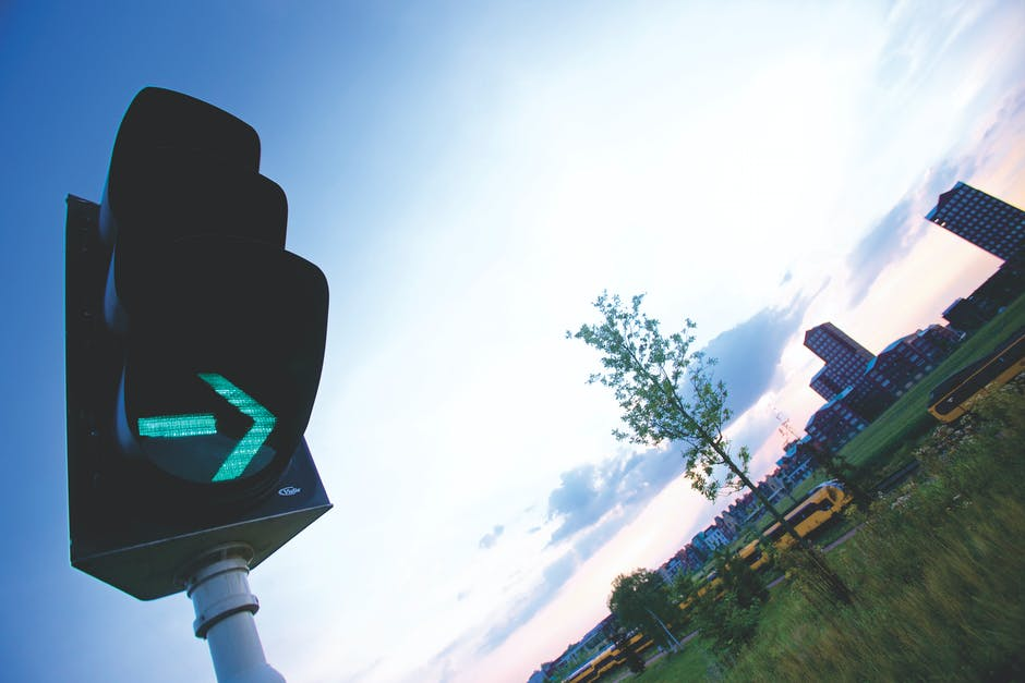 Road Sign in City