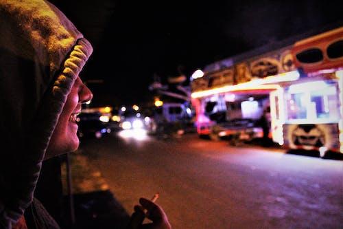 Ingyenes stockfotó cigaretta, éjszaka, móka témában