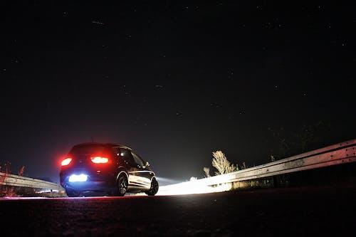 Free stock photo of car, illumination, low light, night