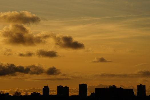 Free stock photo of dawn, sky, sunset, sunrise