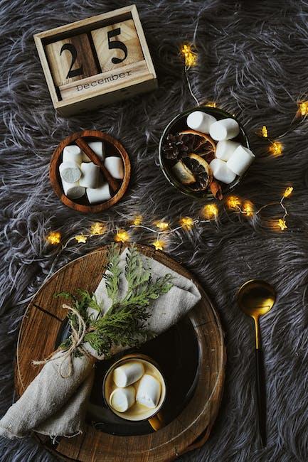 Table setting with christmas theme