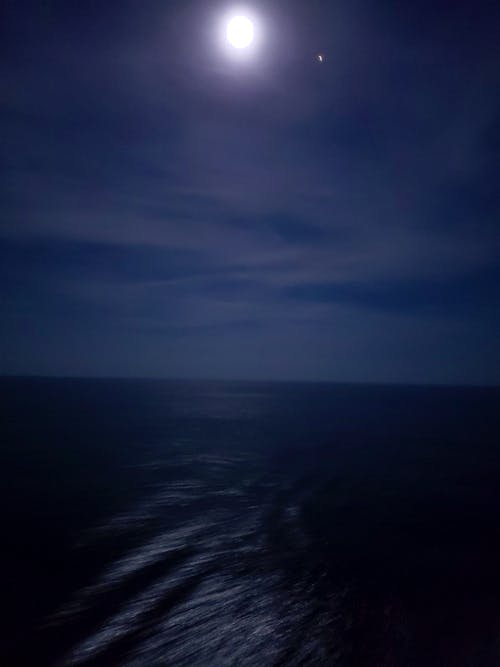 Free stock photo of cruise, moon, night