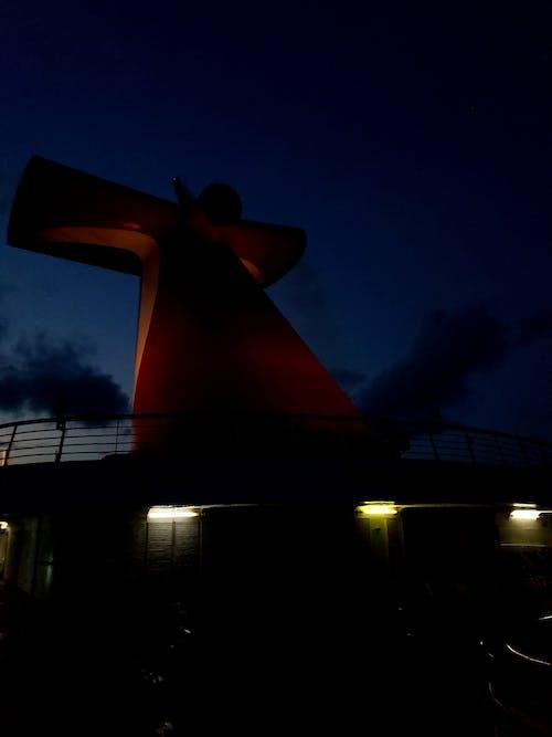 Kostnadsfri bild av kryssningsfartyg, lynnig, natt
