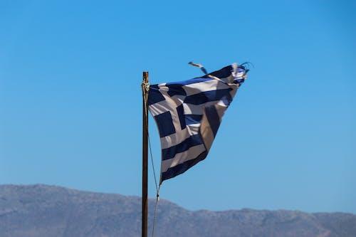 Ảnh lưu trữ miễn phí về cột cờ, gió, Hy Lạp, màu xanh da trời