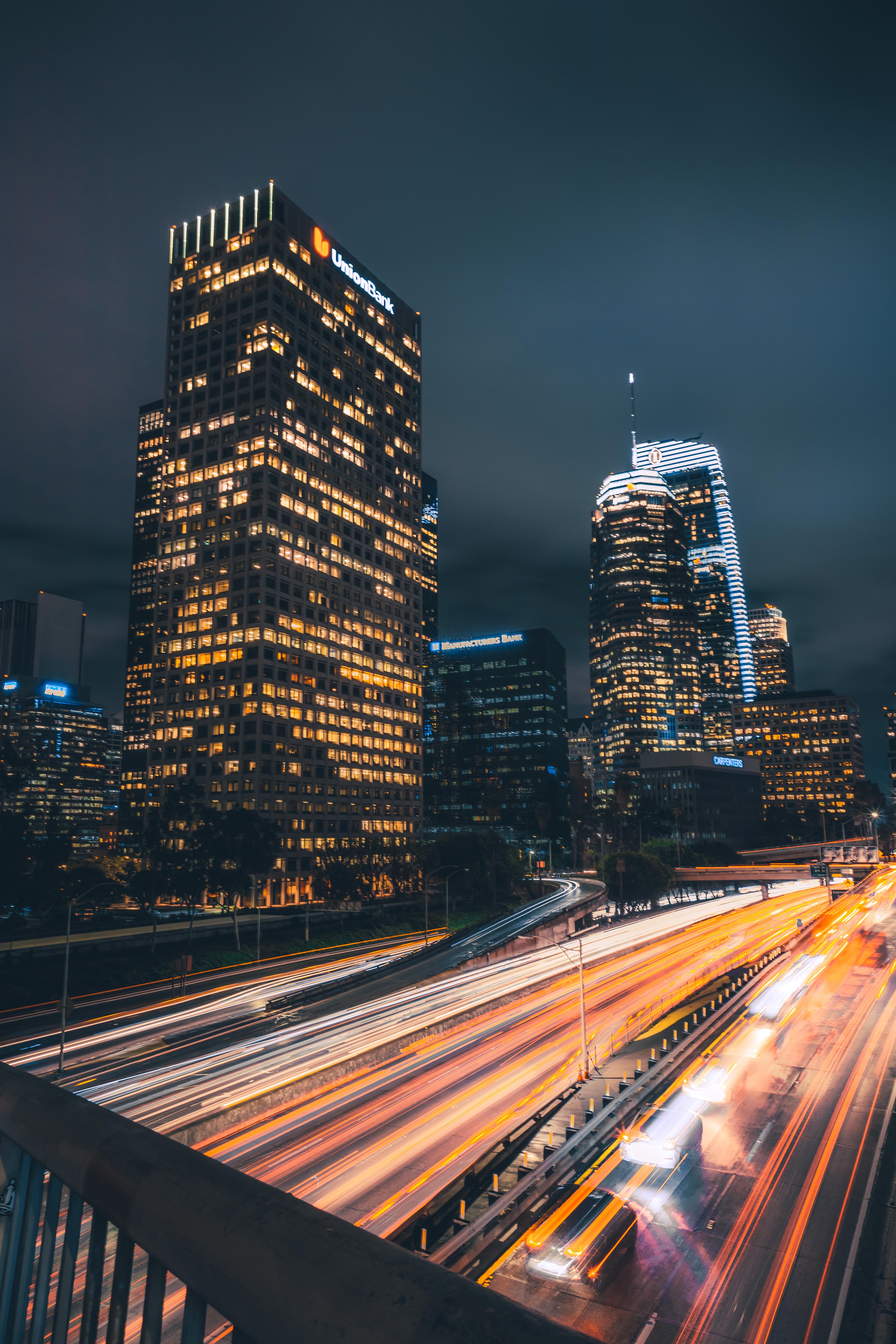 Time-Lapse Photo of Expressway During Night