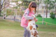 person, girl, animal