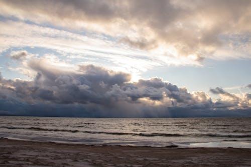 Imagine de stoc gratuită din apă, apus, cer, face cu mâna