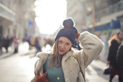Free stock photo of caucasian, fashion, fur, girl