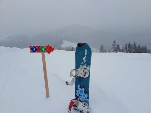 Free stock photo of mountains, snow, snowboard, winter