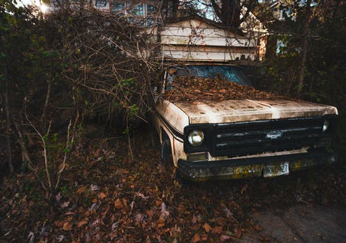 Photo Of An Abandoned Car