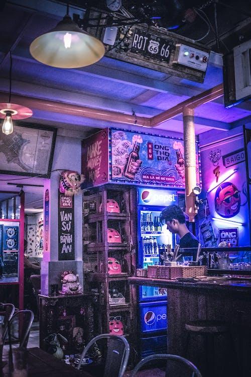 Gratis stockfoto met café, fel, laserlicht, licht effect