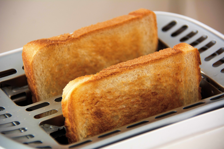 Toasted Bread on Bread Toaster