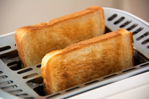 Toasted Bread on Bread Toaster