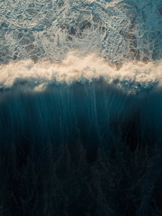 Areal Photo of Sea Wave