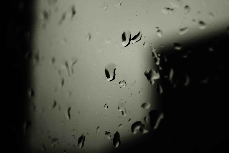 Foto profissional grátis de água, chuva, close, copo