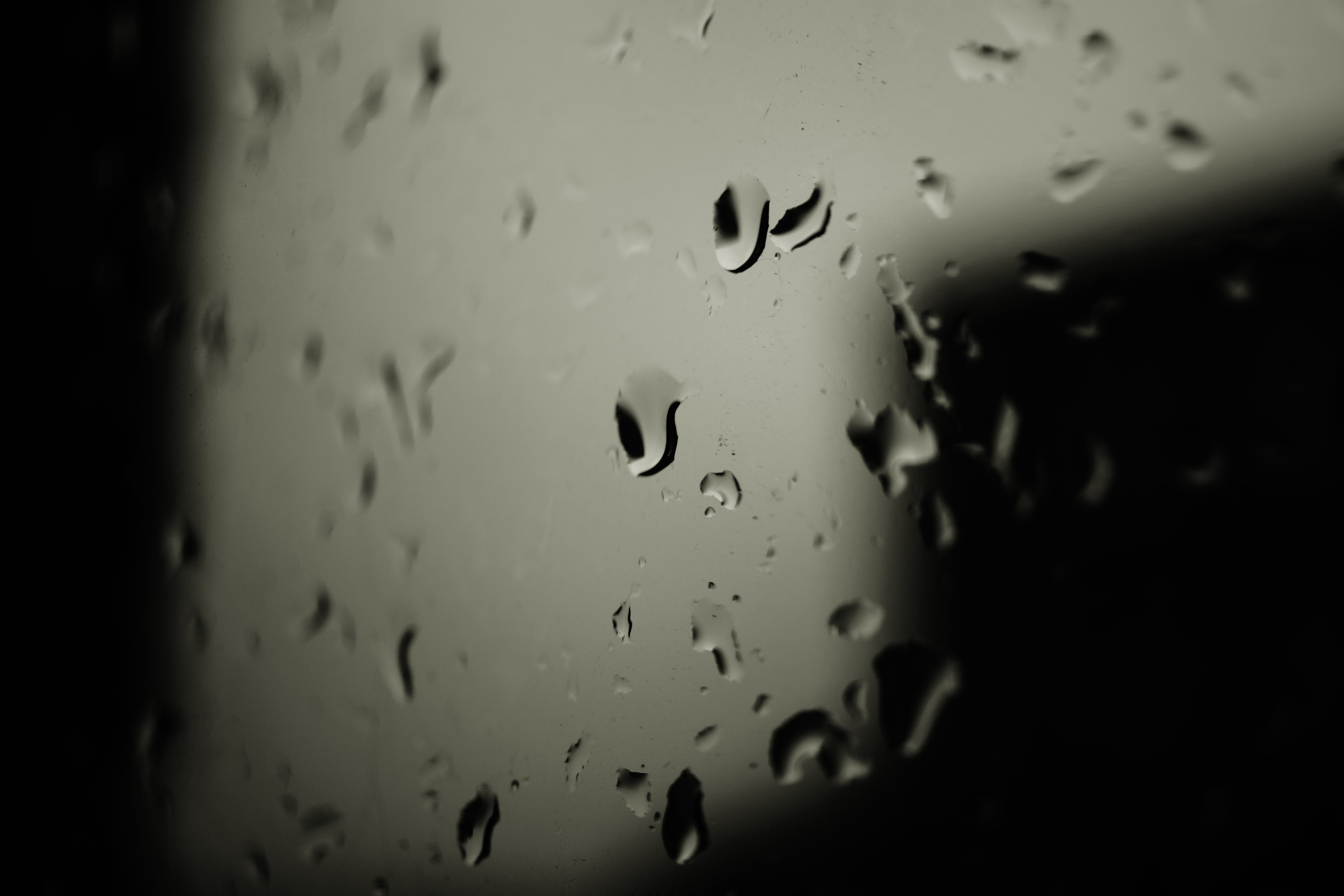 close-up, droplets, glass