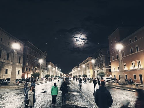 Free stock photo of architectural design, italy, moon light