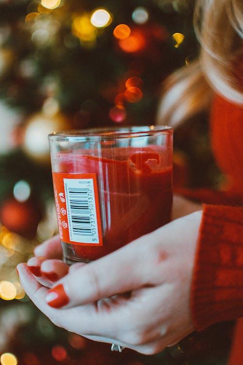 Gratis stockfoto met drinkglas, kaars, Kerstmis, macro