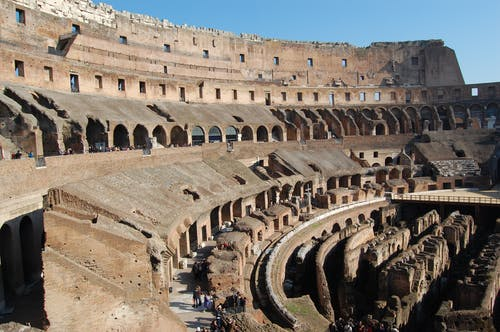 Free stock photo of blue sky, brown, Coliseum