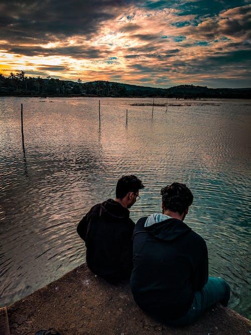 Foto stok gratis aditya naik, danau, lansekap, matahari keemasan