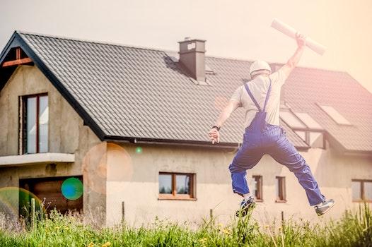 Free stock photo of man, building, construction, garden