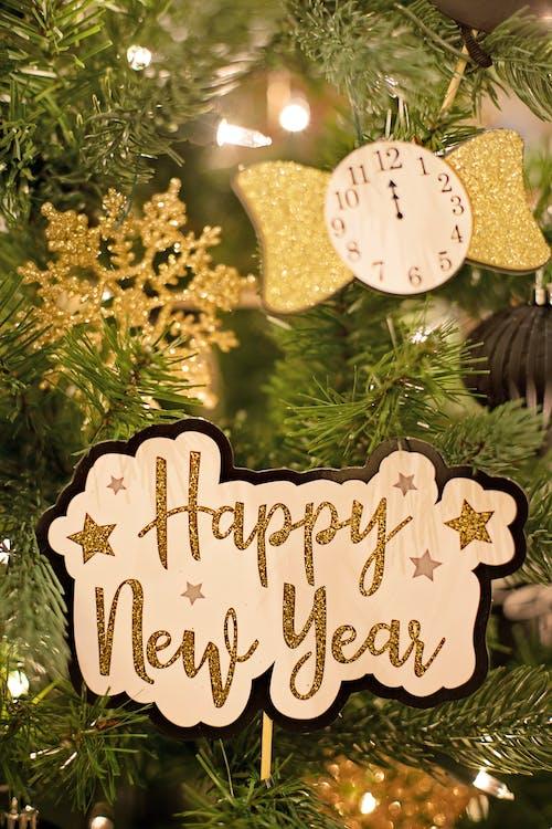 Photos gratuites de affichage, arbre de noël, bonne année, carte de noël