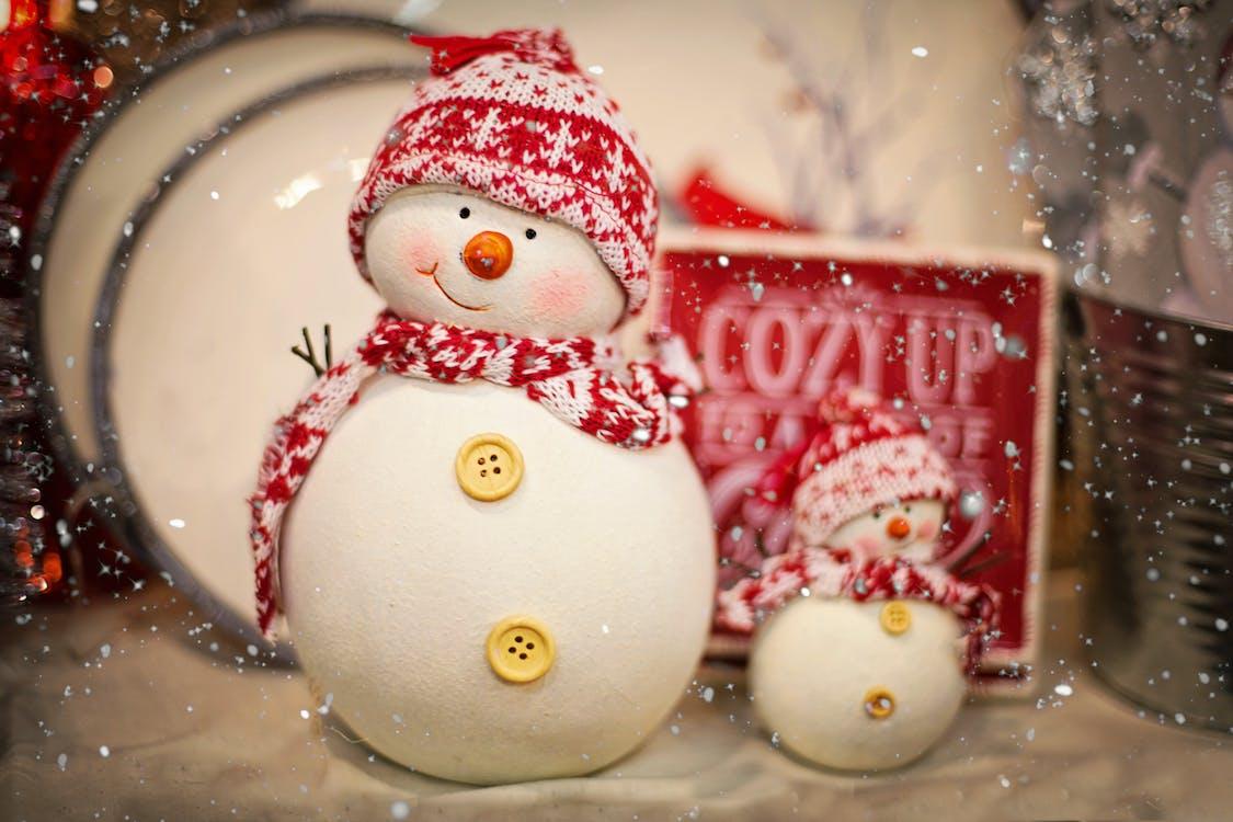 Snowman Decor Near Box