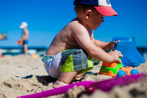 คลังภาพถ่ายฟรี ของ ชายหาด, ทราย, พักร้อน, รถขุด