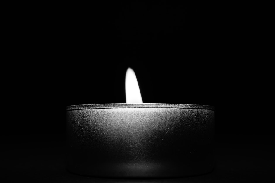 Close-up of Candle over Black Background