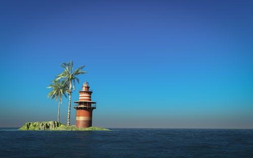 가벼운, 등대, 물, 바다의 무료 스톡 사진
