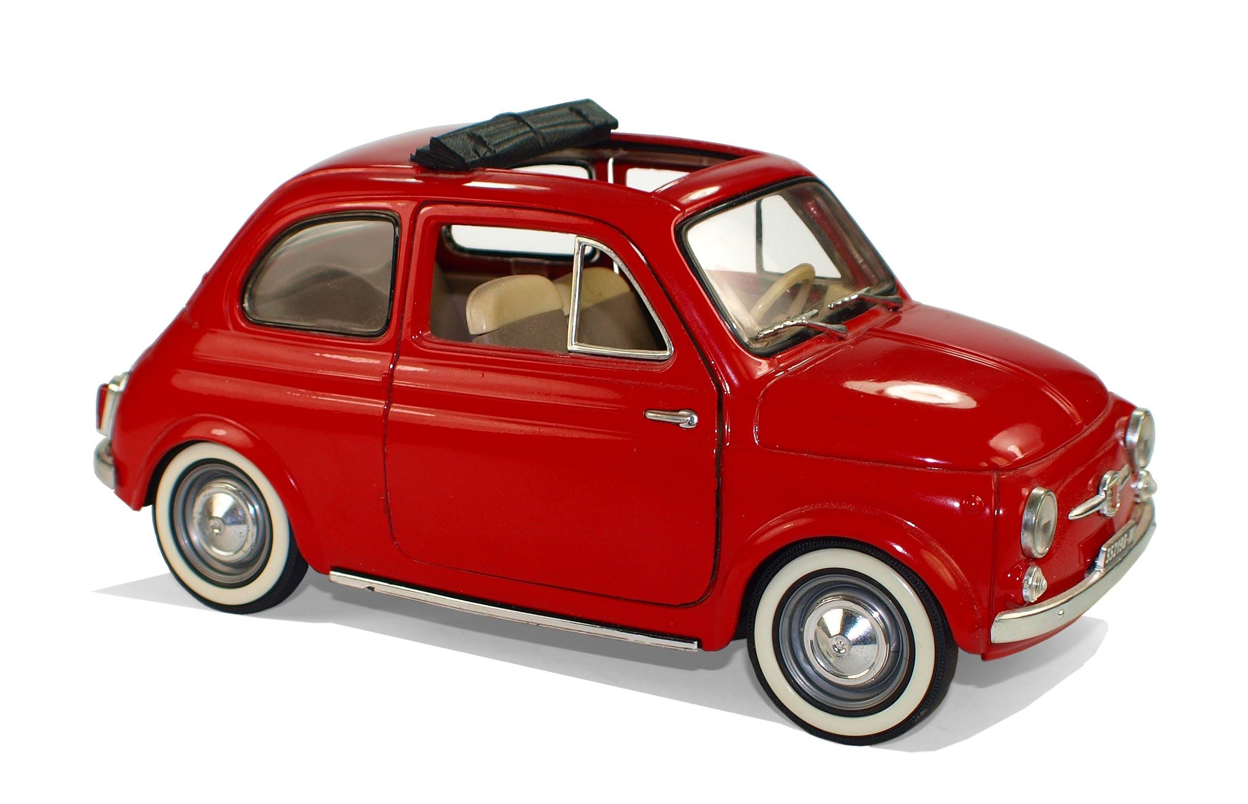 Red Classic Fiat 500