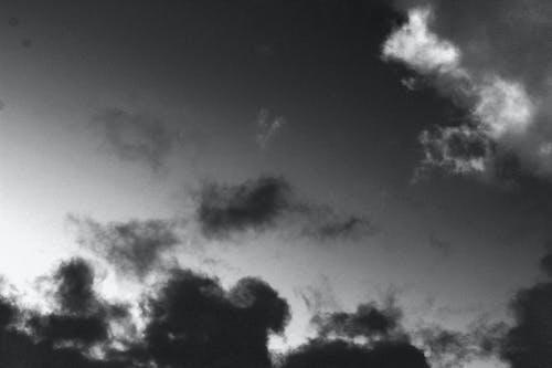 Cloudy Sky Grayscale Photo