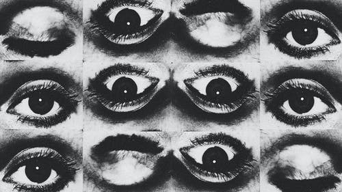 Black and White Collage of Eyes