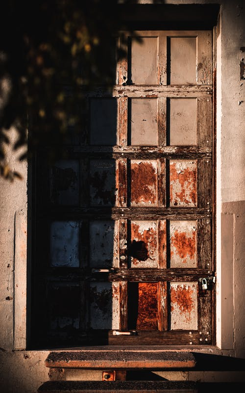 A Half-Opened Old Door