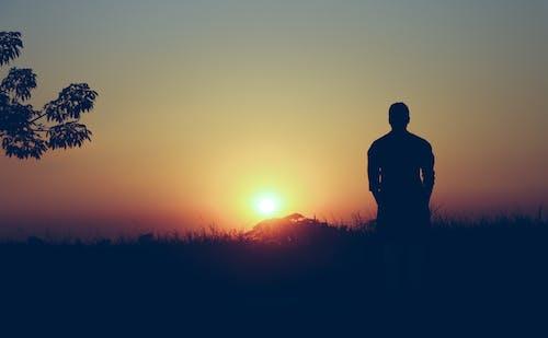 Free stock photo of alone, beautiful sunset, boy