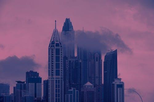 คลังภาพถ่ายฟรี ของ ตะวันลับฟ้า, ตัวเมือง, ตึกระฟ้า, ทิวทัศน์เมือง