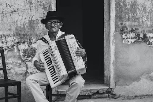 Foto profissional grátis de acordeão, adulto, ao ar livre, arte