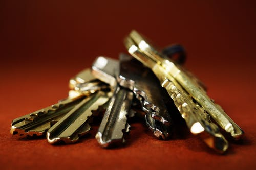 Brass-colored Keys