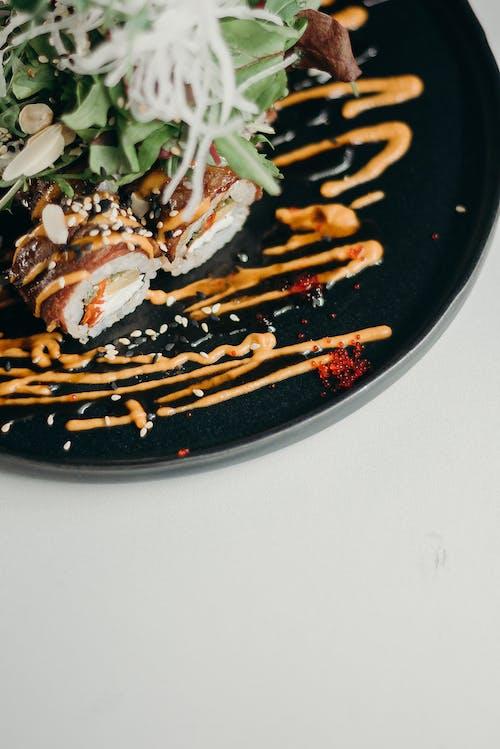 ağız sulandırıcı, akşam yemeği, aperitif, Asya yemeği içeren Ücretsiz stok fotoğraf