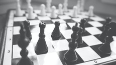 black-and-white, game, king