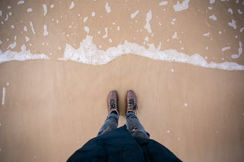 Free stock photo of adventure, Baltic Sea, blue waters, boots