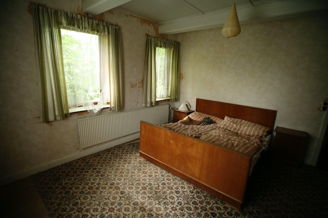 à l'intérieur, chambre, chambre à coucher