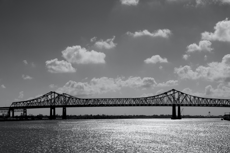 Silhouette Photography of Suspension Bridge