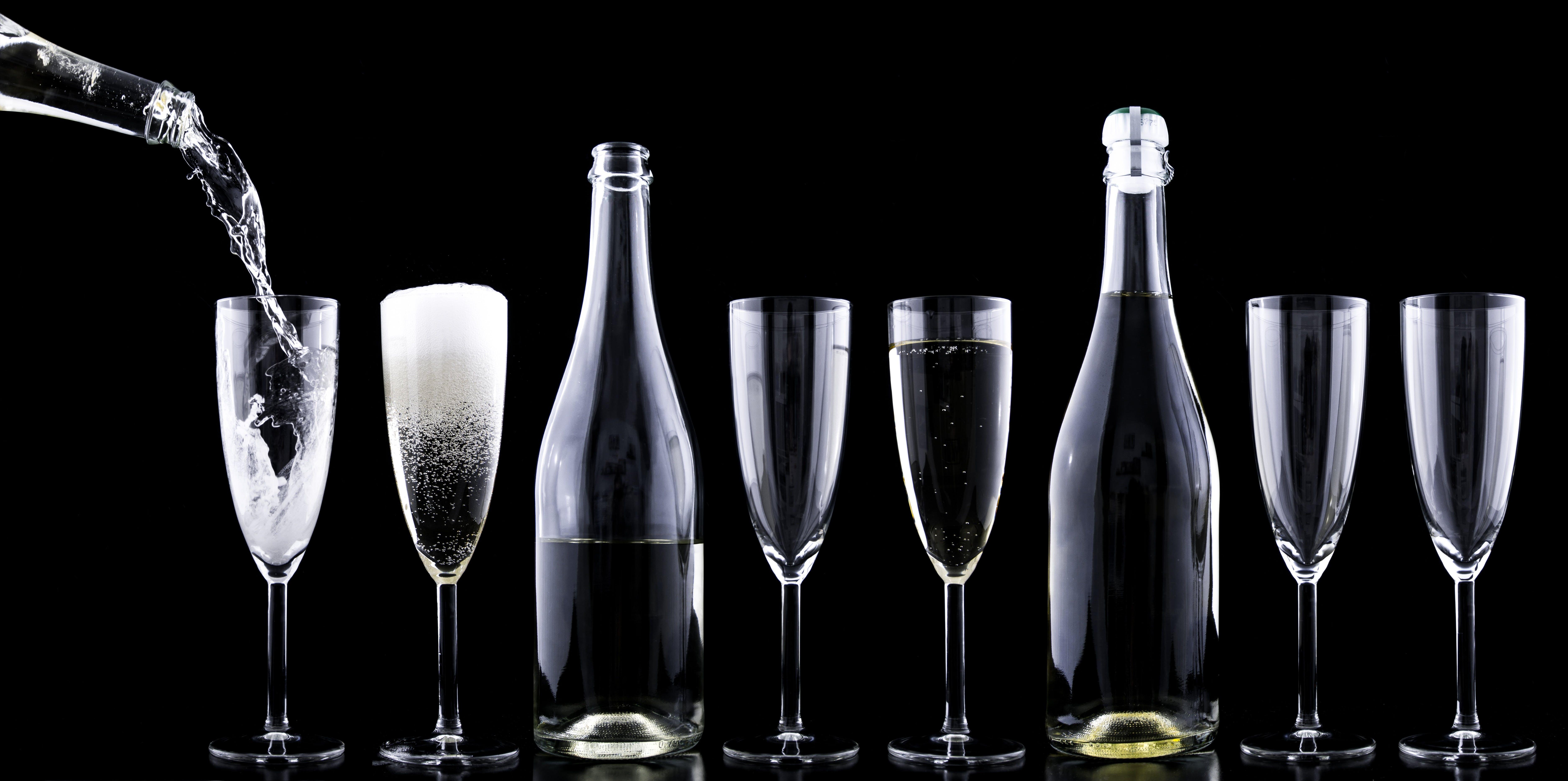 alkohol, bryzgać, butelki