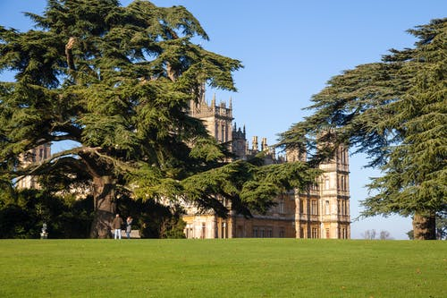Free stock photo of blue sy, castle, downton abbey