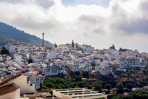 View of peaceful white Andalusia town
