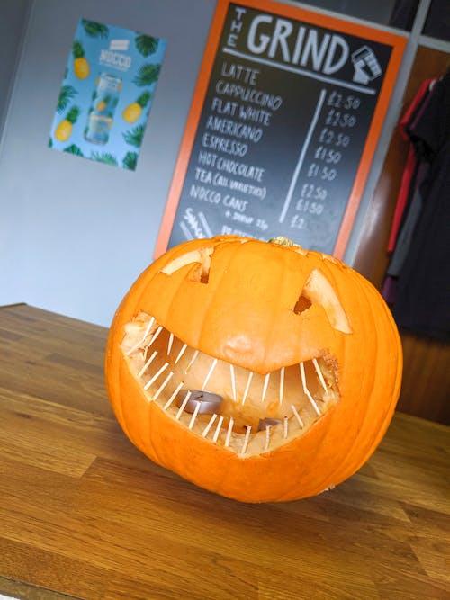 Imagine de stoc gratuită din cafenea, dovleac de Halloween, Halloween