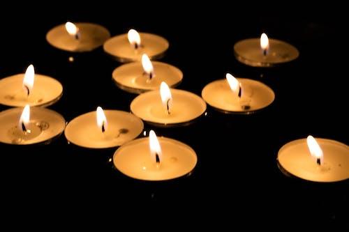 Free stock photo of candles, dark, lights, tea